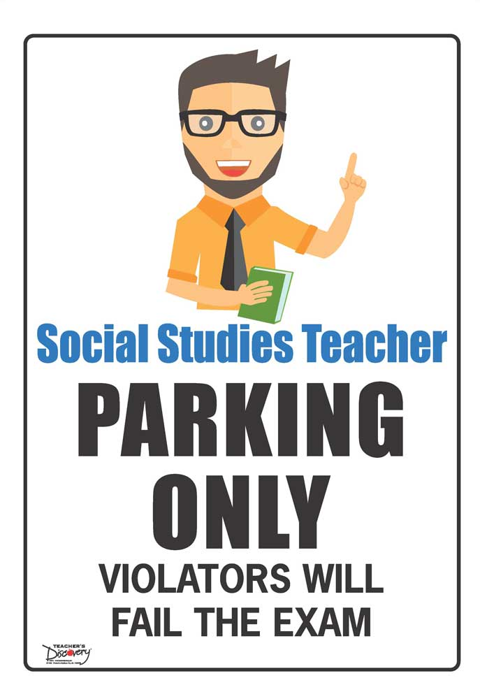 Teacher Parking Only Mini-Poster