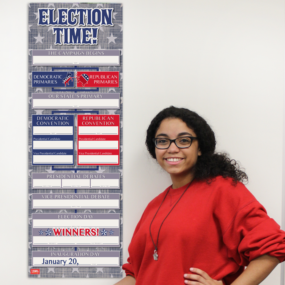 Election time dry erase chart social studies teacher 39 s for Farcical webster