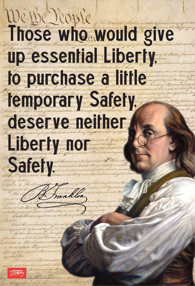 Franklin On Liberty Mini-Poster