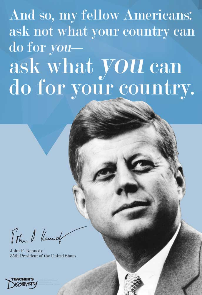 JFK On Leadership Mini-Poster