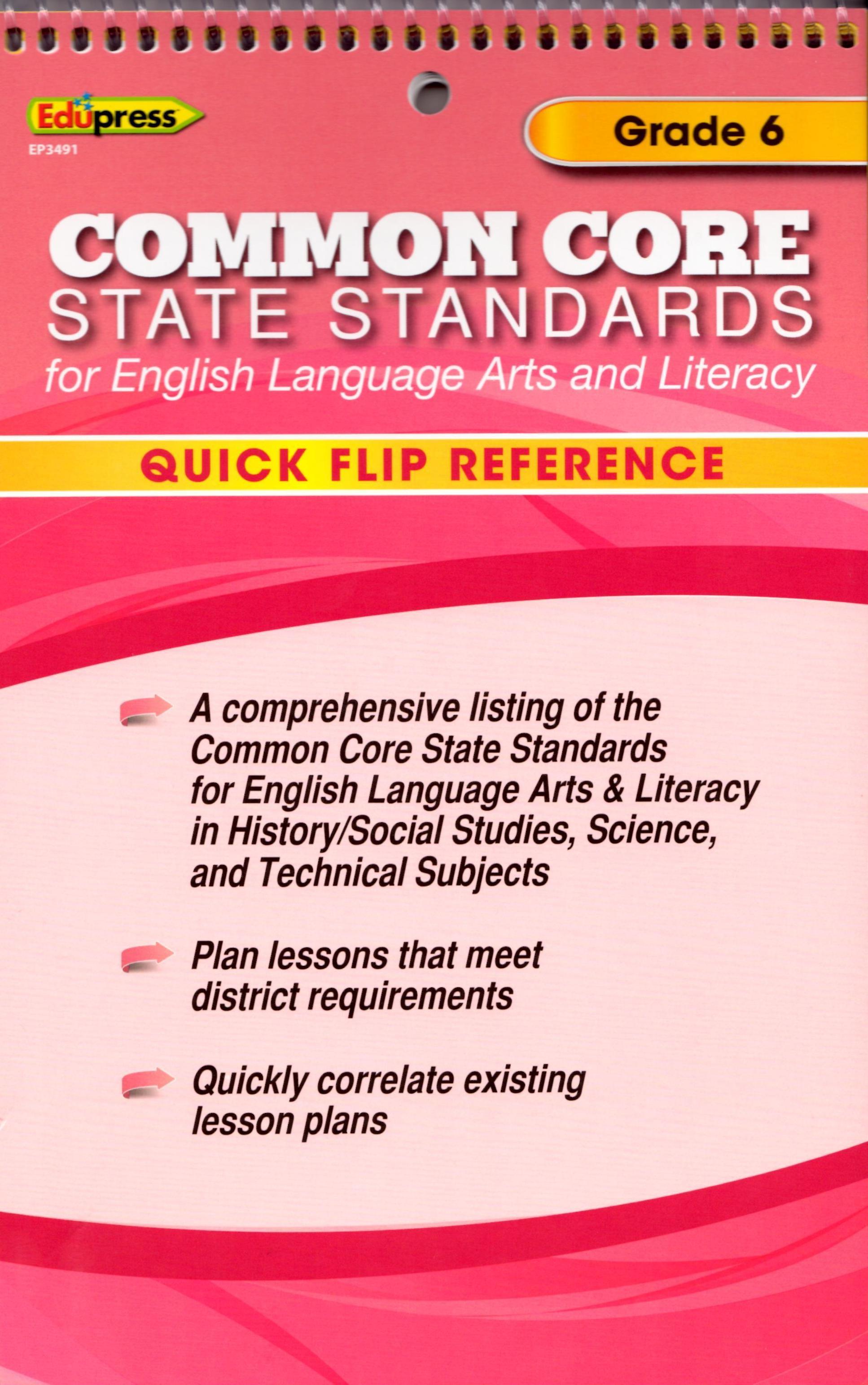 Common Core State Standards Grade 6 Flip Chart