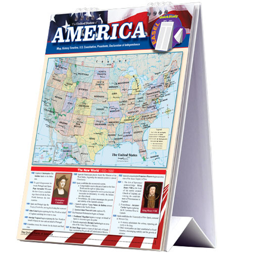 United States of America Quick Study Easel