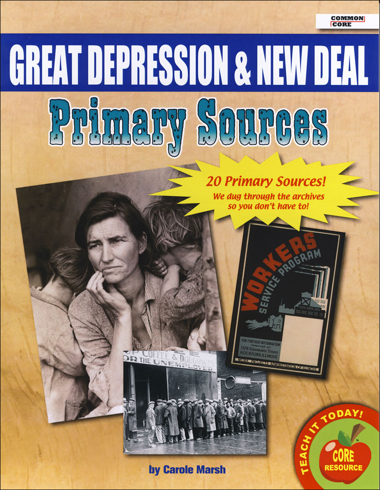 Great Depression and New Deal  Primary Sources Pack