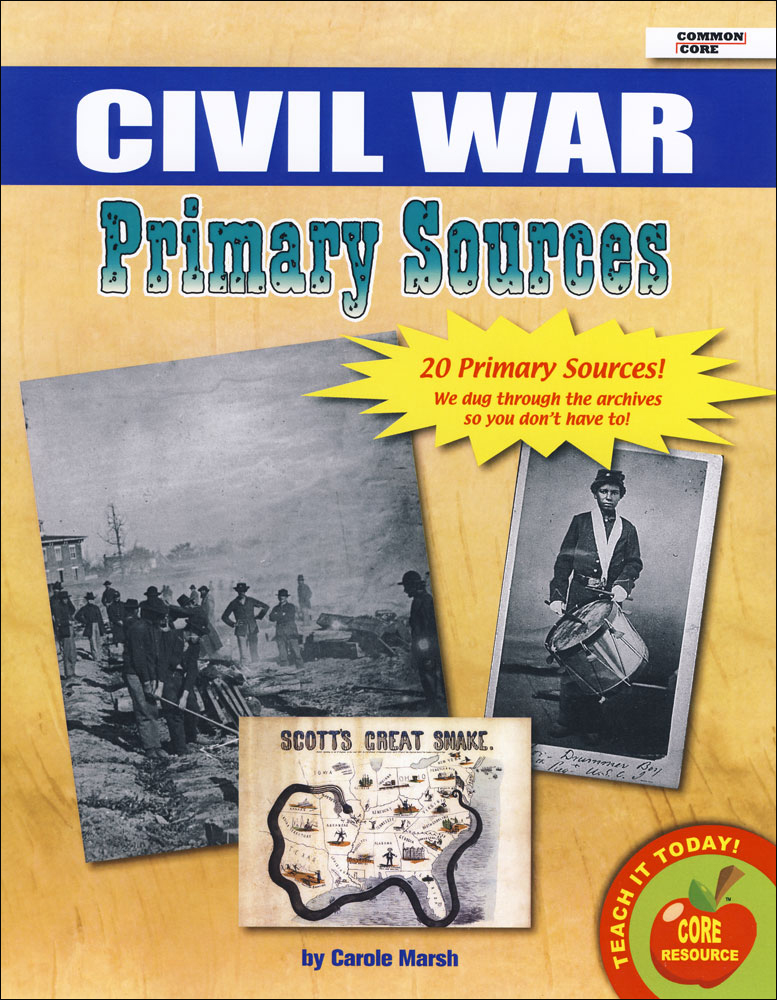 Civil War Primary Source Document Set
