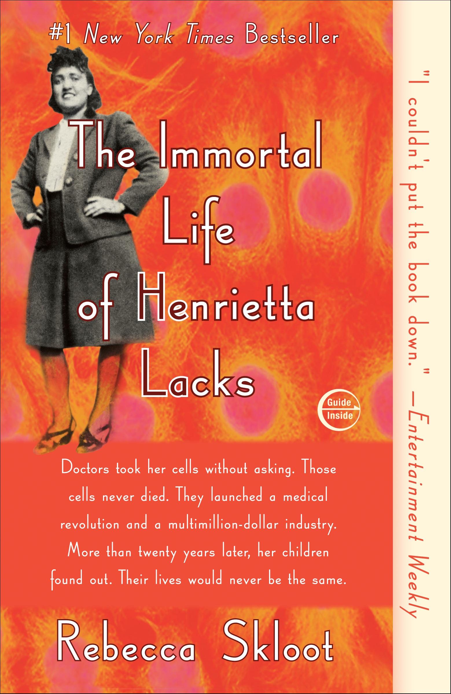 The Immortal Life of Henrietta Lacks Novel Paperback Book (1140L)