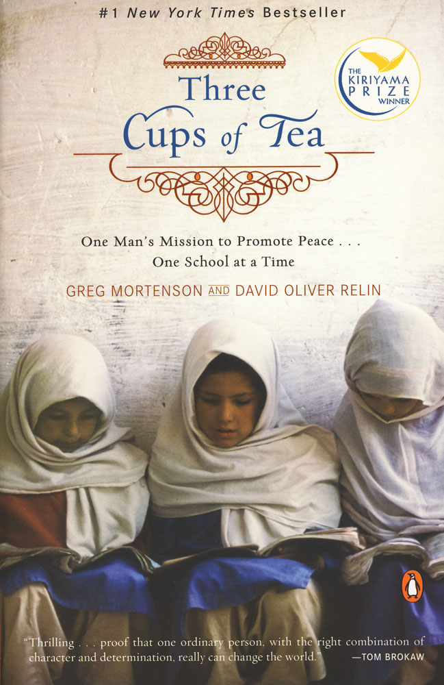 Three Cups of Tea Paperback Book (910L)