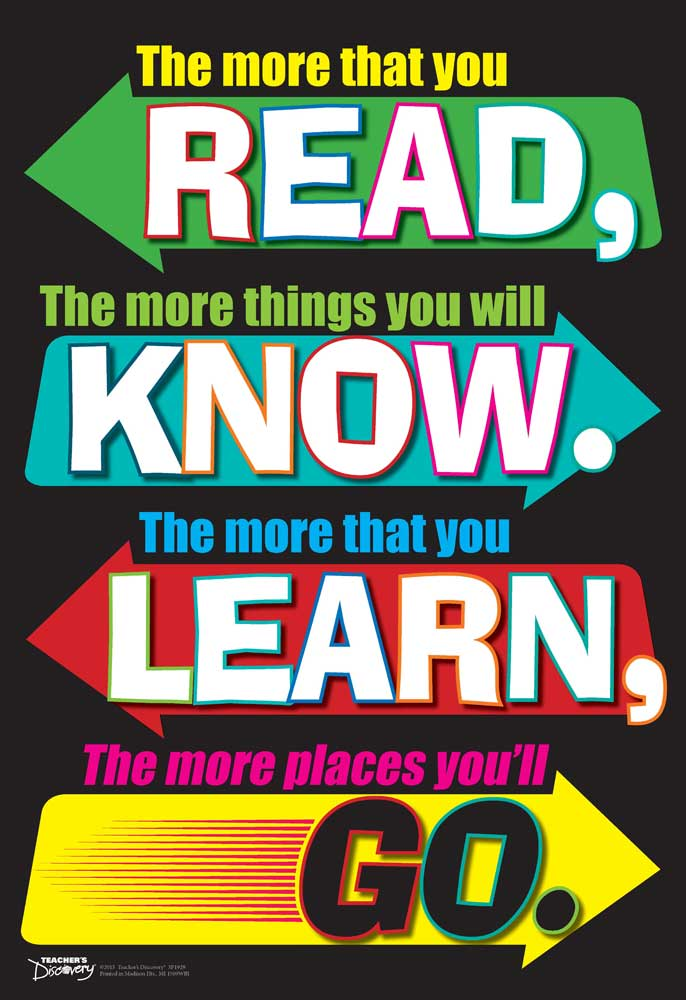 The More That You Read Mini-Poster