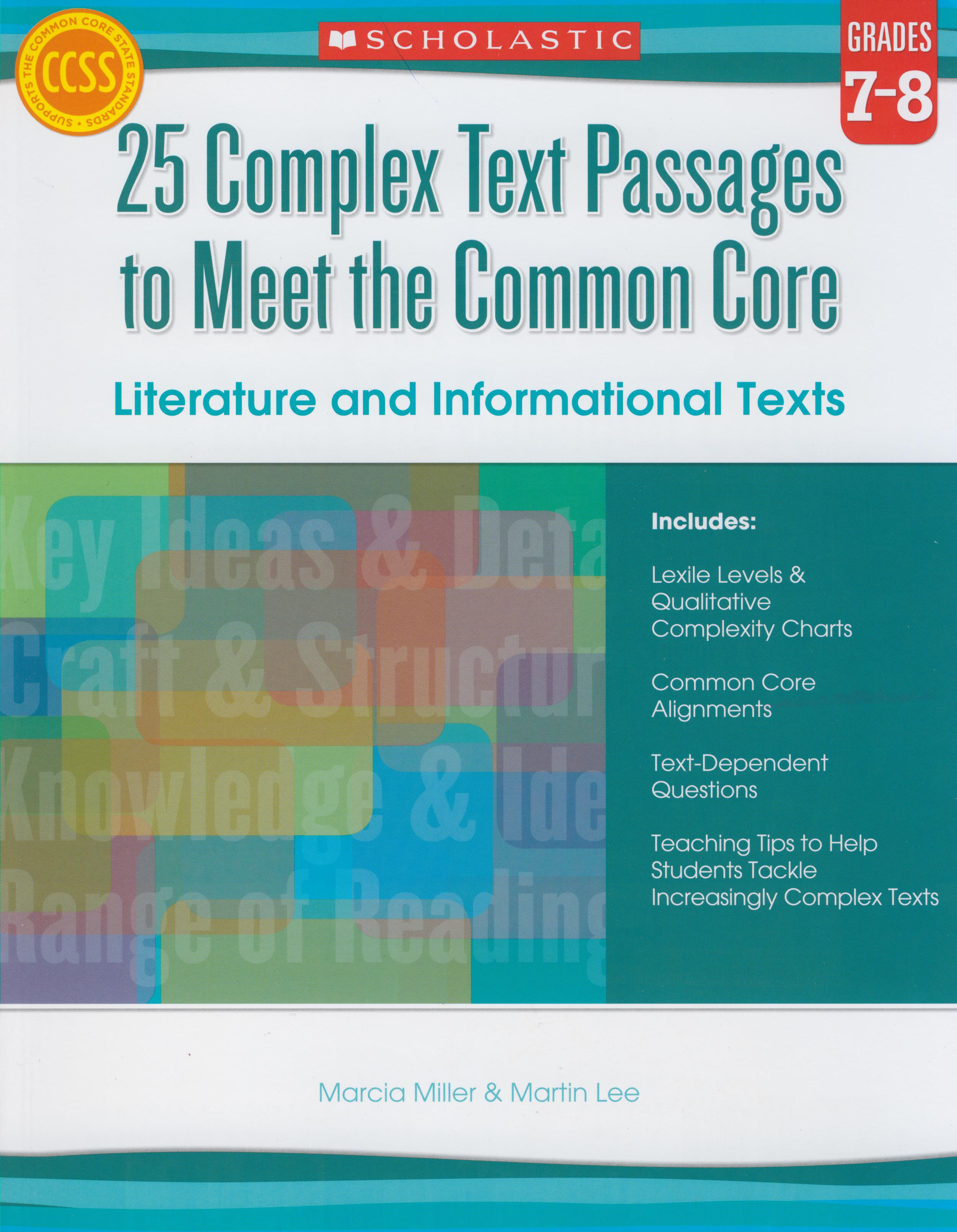 25 Complex Text Passages to Meet the Common Core Reproducible Book