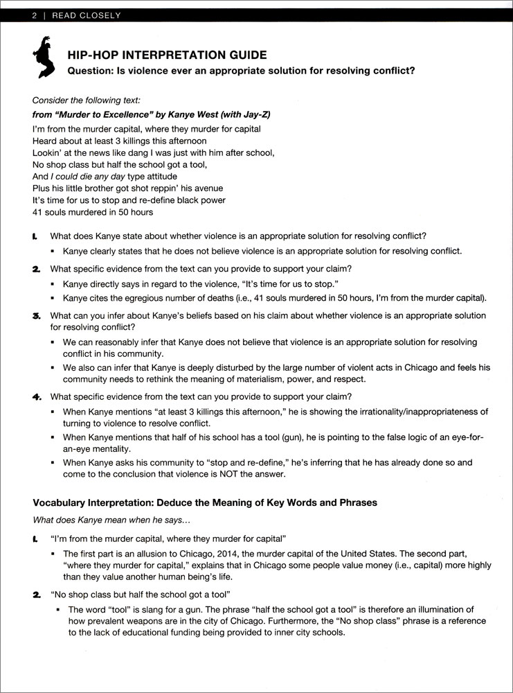 Hip Hop Language Arts Activity Book English Teachers Discovery