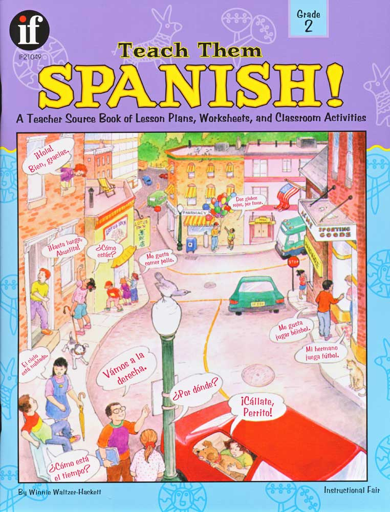 Teach Them Spanish! Grade 2 Book