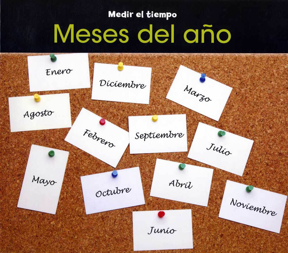 Meses del año Spanish Concept Story Book