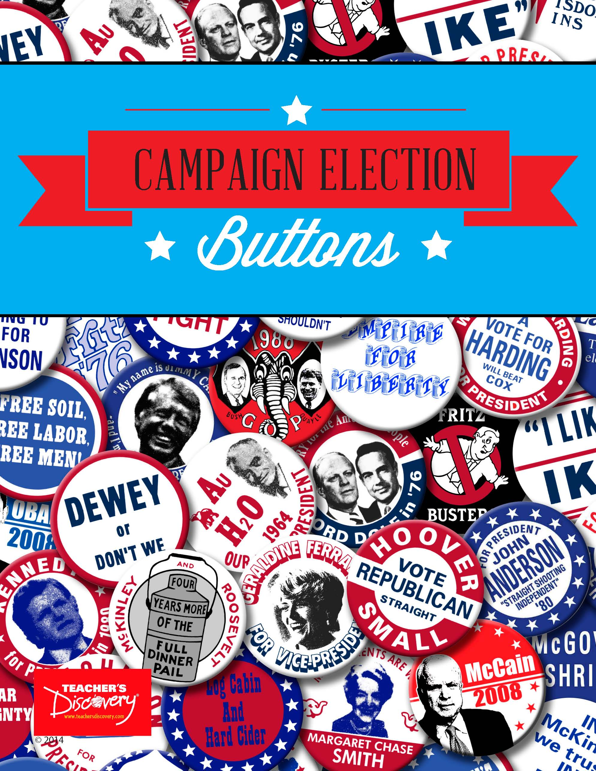Campaign Buttons ~ Set of 51