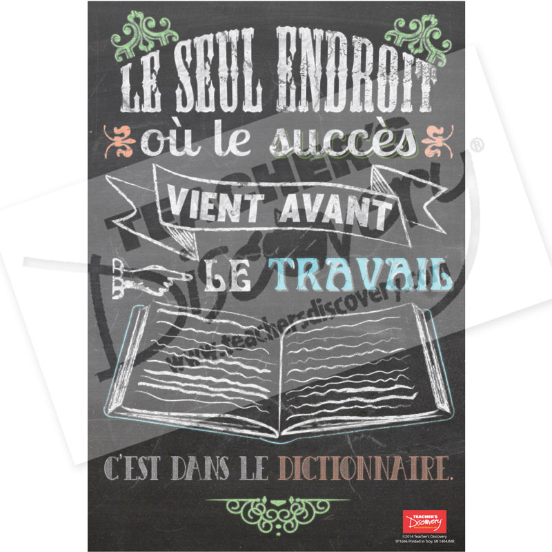 Key to Success French Mini-Poster