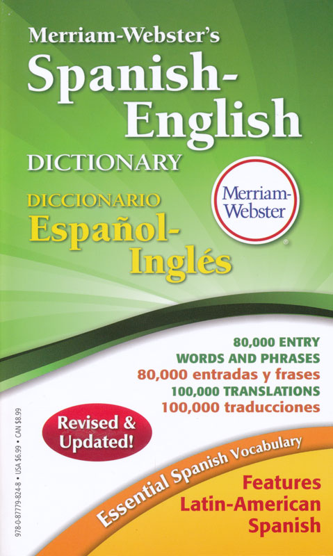 Merriam webster 39 s spanish english 4 x 7 dictionary for Farcical webster