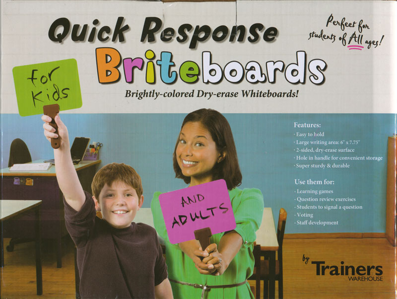 Quick Response Briteboards with Erasers - Set of 10
