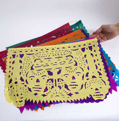 Day of the Dead Papel Picado Garland