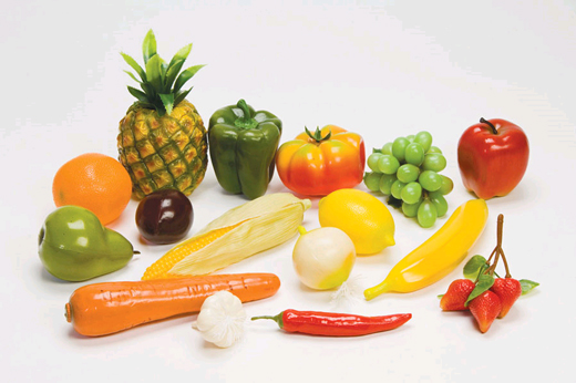 Fruits & Veggies Plastic Food Set