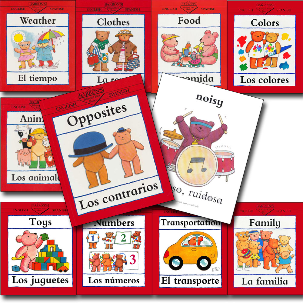 Bilingual First Spanish Books Set of 10