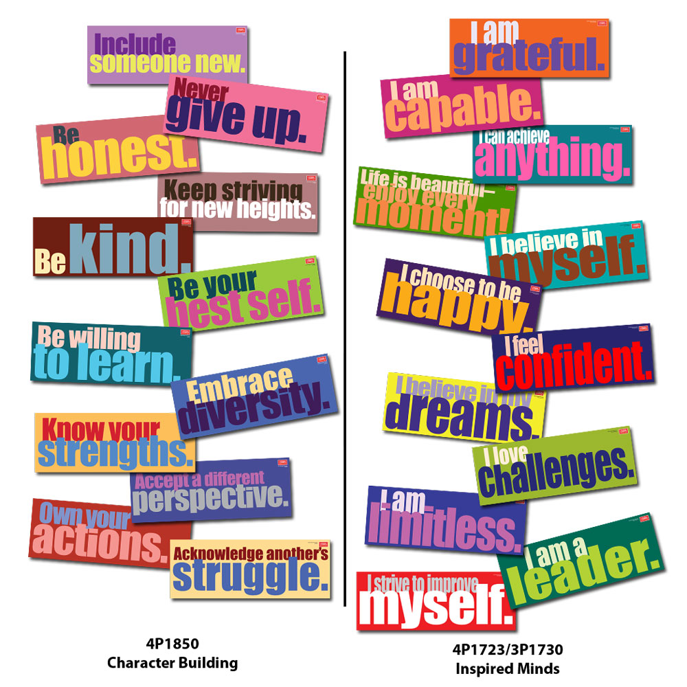 Character Building and Affirmations Sign Sets
