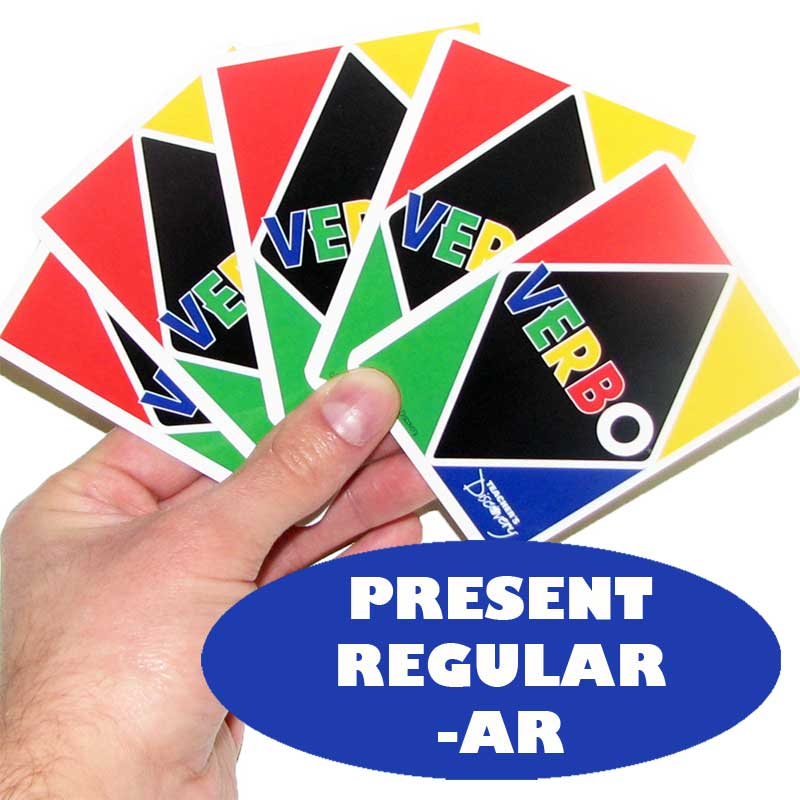 Verbo™ Spanish Card Game Present Tense -AR Verbs