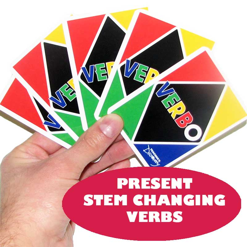 Verbo™ Spanish Card Game Present Tense Stem Changing Verbs