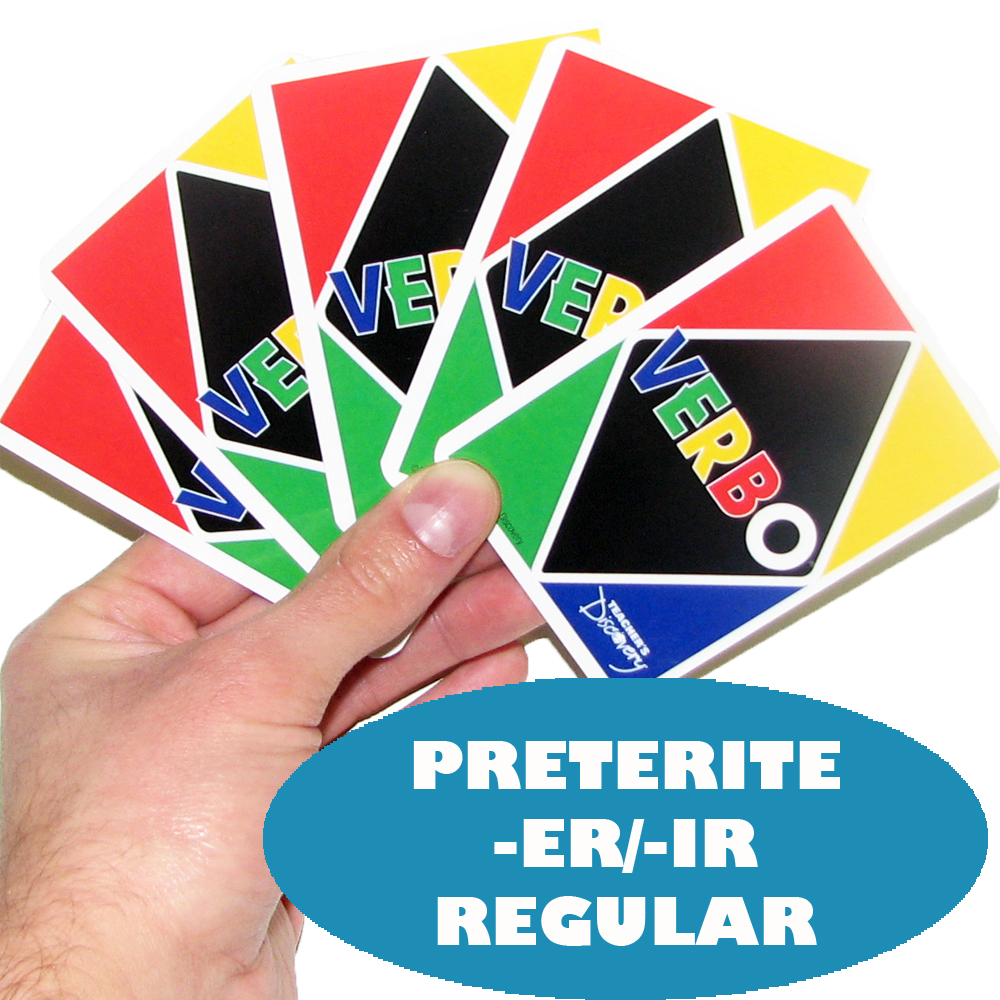 Verbo™ Spanish Card Game Preterite Tense -ER/IR Verbs