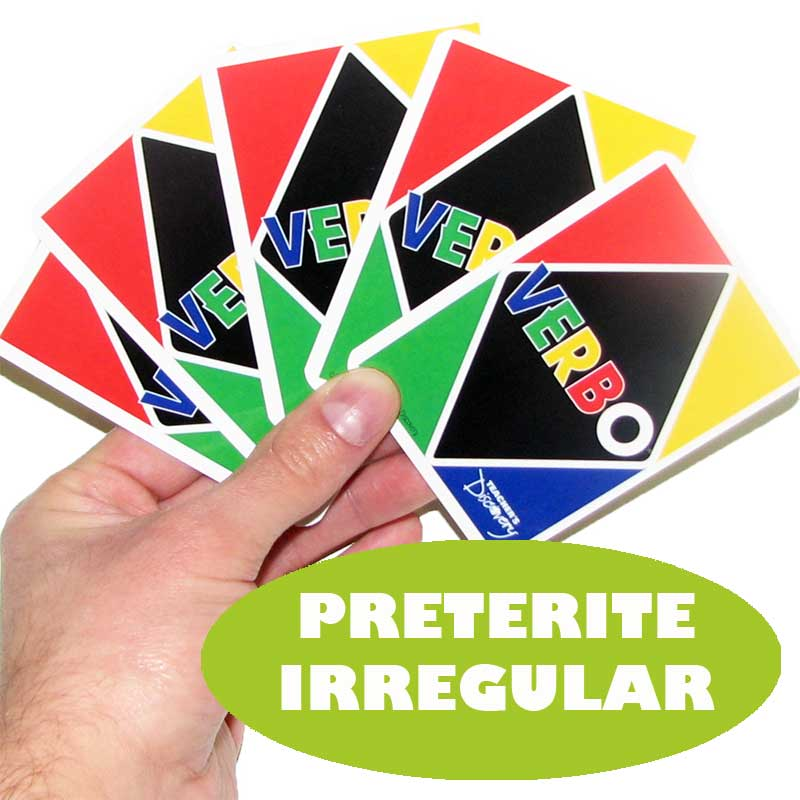 Verbo™ Spanish Card Game Preterite Tense Irregular Verbs