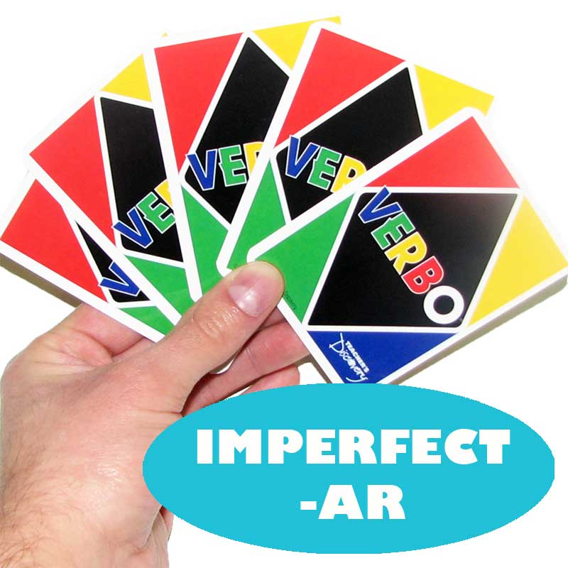 Verbo™ Spanish Card Game Imperfect -AR Verbs
