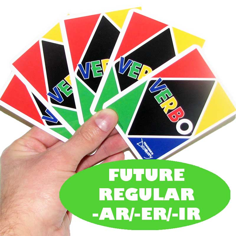 Verbo™ Spanish Card Game Future Tense Regular Verbs -AR/ER/IR