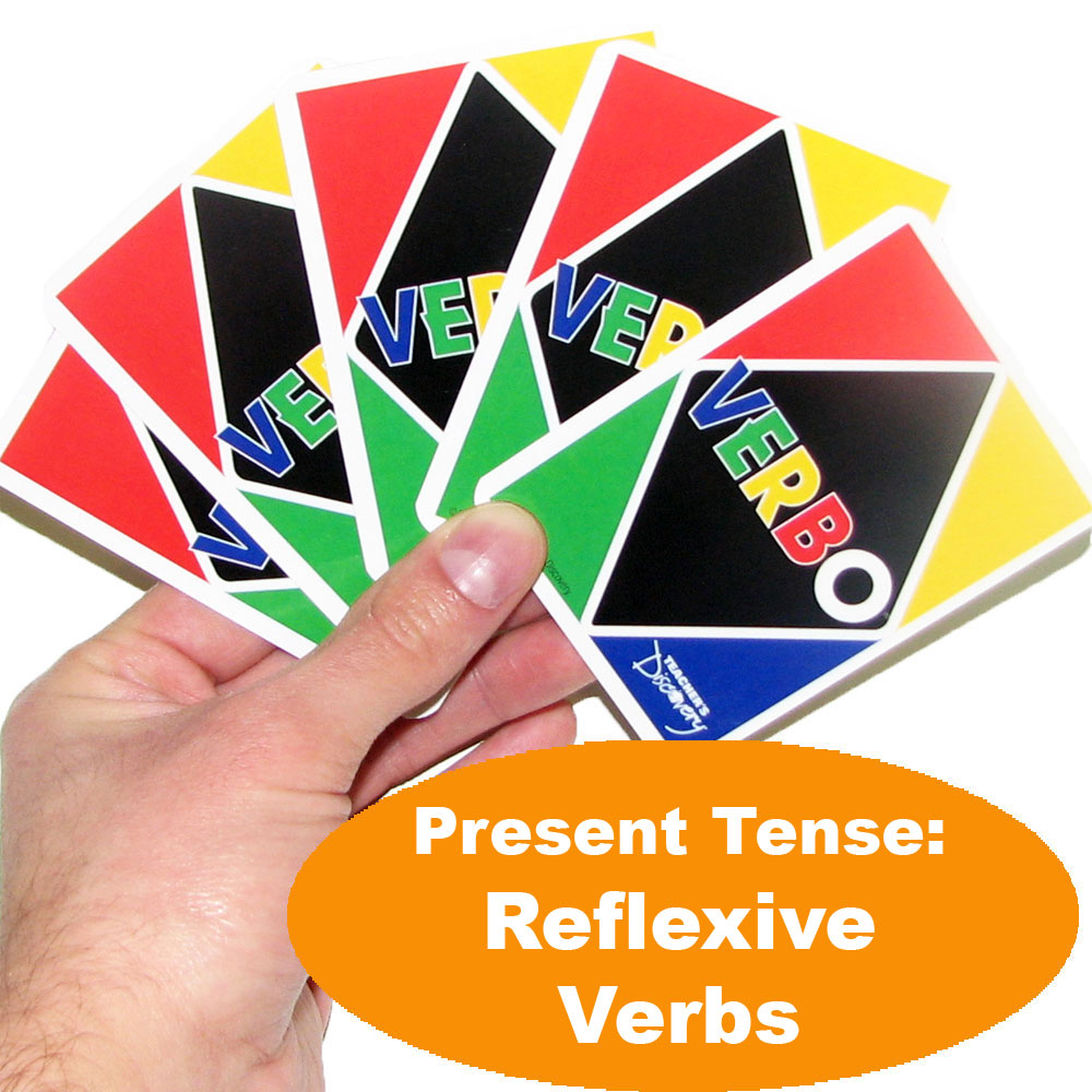Verbo™ Spanish Card Game Present Tense Reflexive Verbs