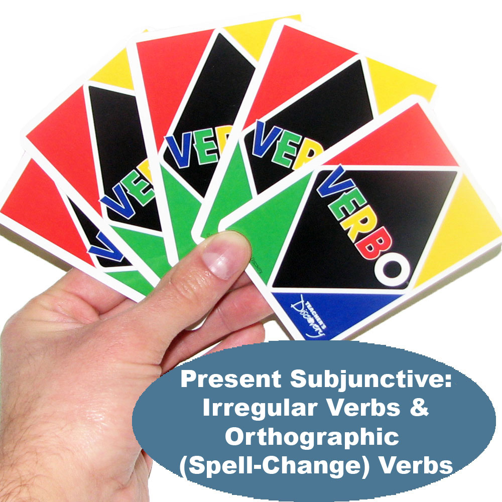 Verbo™ Spanish Card Game Present Subjunctive Irregular Verbs & Orthographic (Spell-Change) Verbs