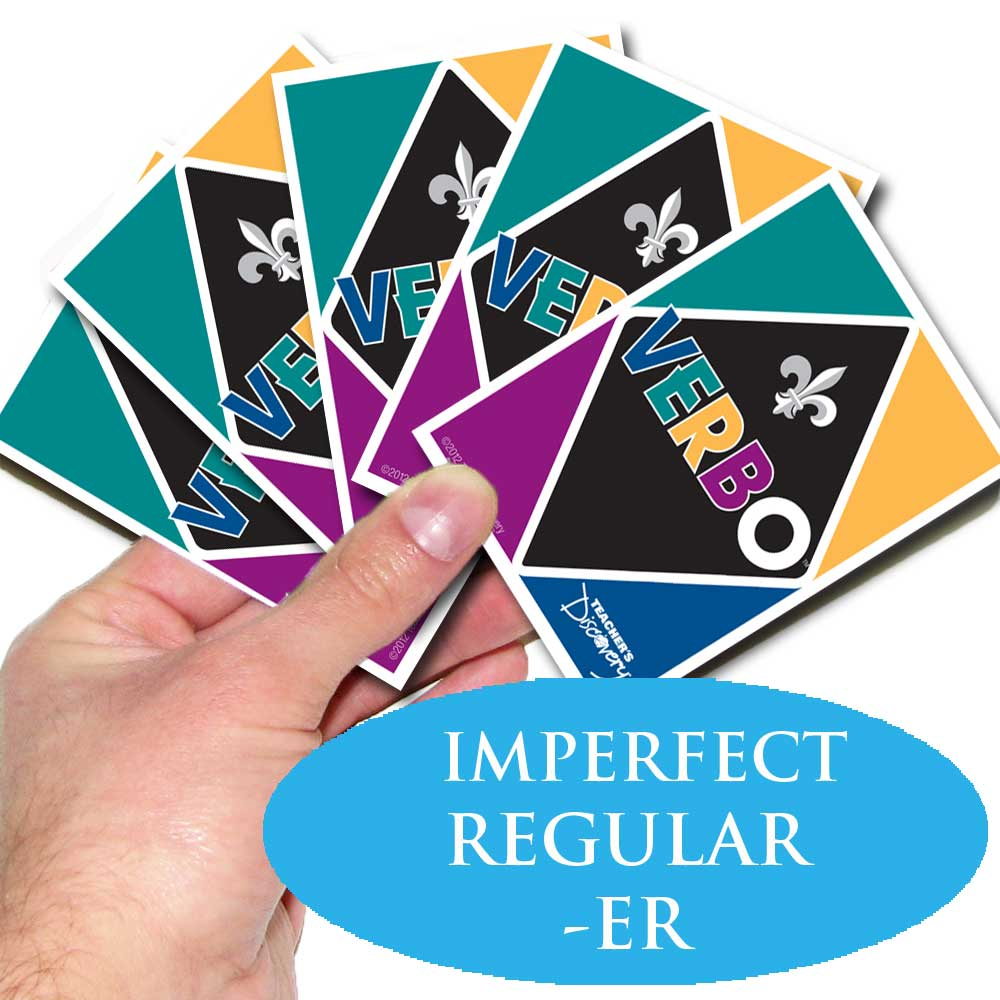Verbo™ French Card Game Imperfect Tense Regular -ER Verbs