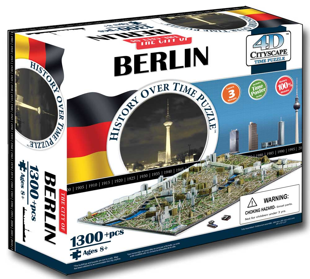 Berlin, Germany 4D Cityscape