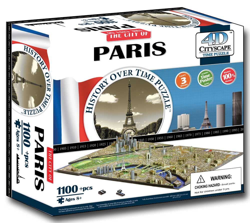 Paris France 4D Cityscape