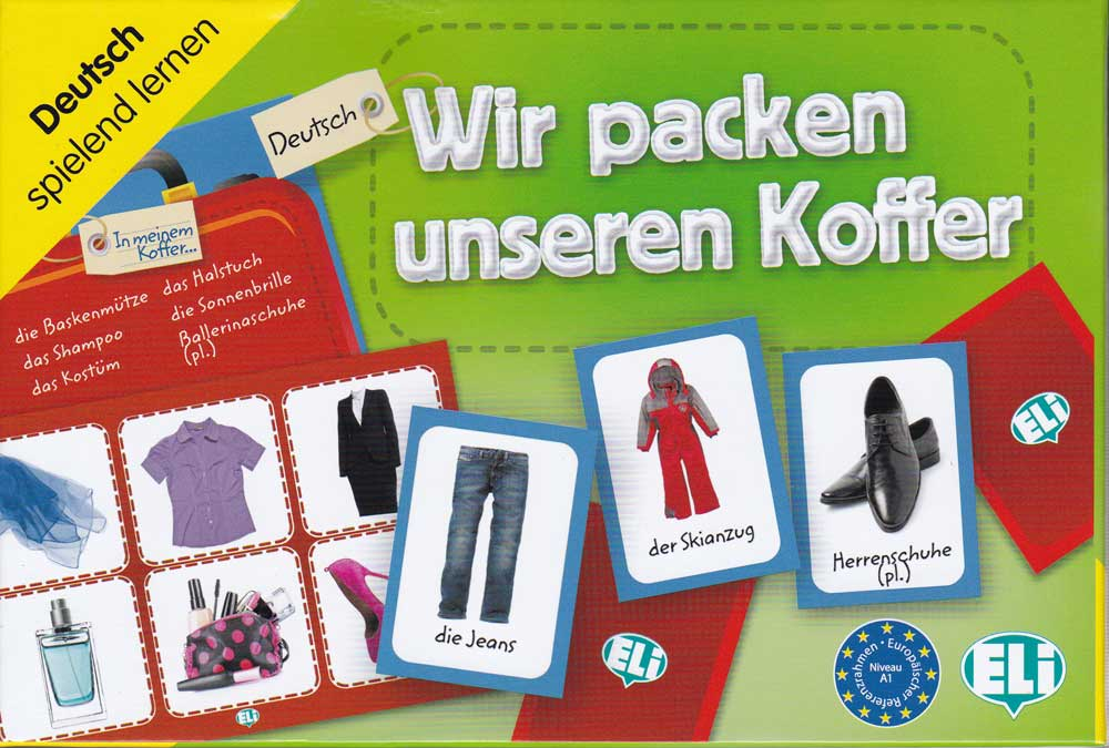 Wir packen unseren Koffer German Game