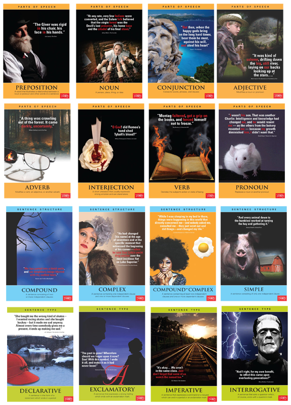 Language Arts/Literature Posters ~ Complete Set of 16