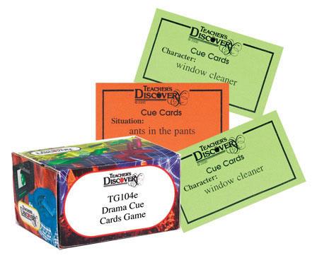 Drama Cue Cards Game