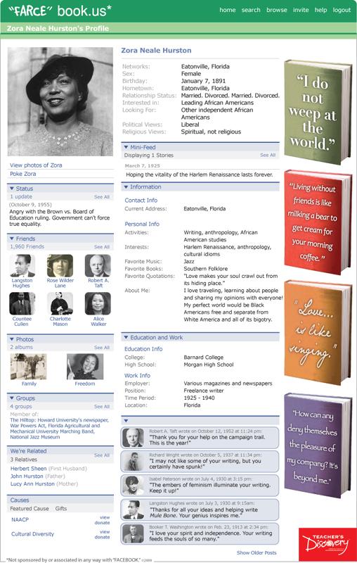 "Zora Neale Hurston ""Farce"" book Poster"