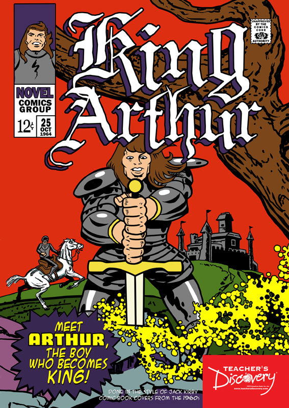 King Arthur Graphic Novel Poster