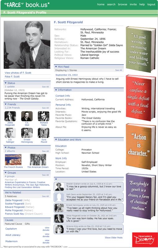 """F. Scott Fitzgerald """"Farce"""" book Poster"""