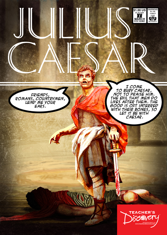 Julius Caesar Graphic Novel Poster