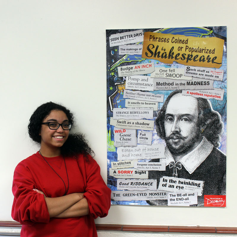 phrases coined or popularized by shakespeare poster english