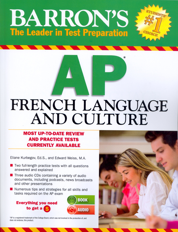 Barron's AP French Language and Culture Book With 3 Audio CDs