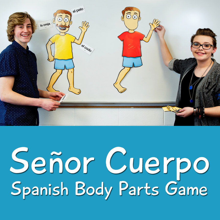 Se or cuerpo spanish body parts game spanish teacher 39 s for Farcical in spanish