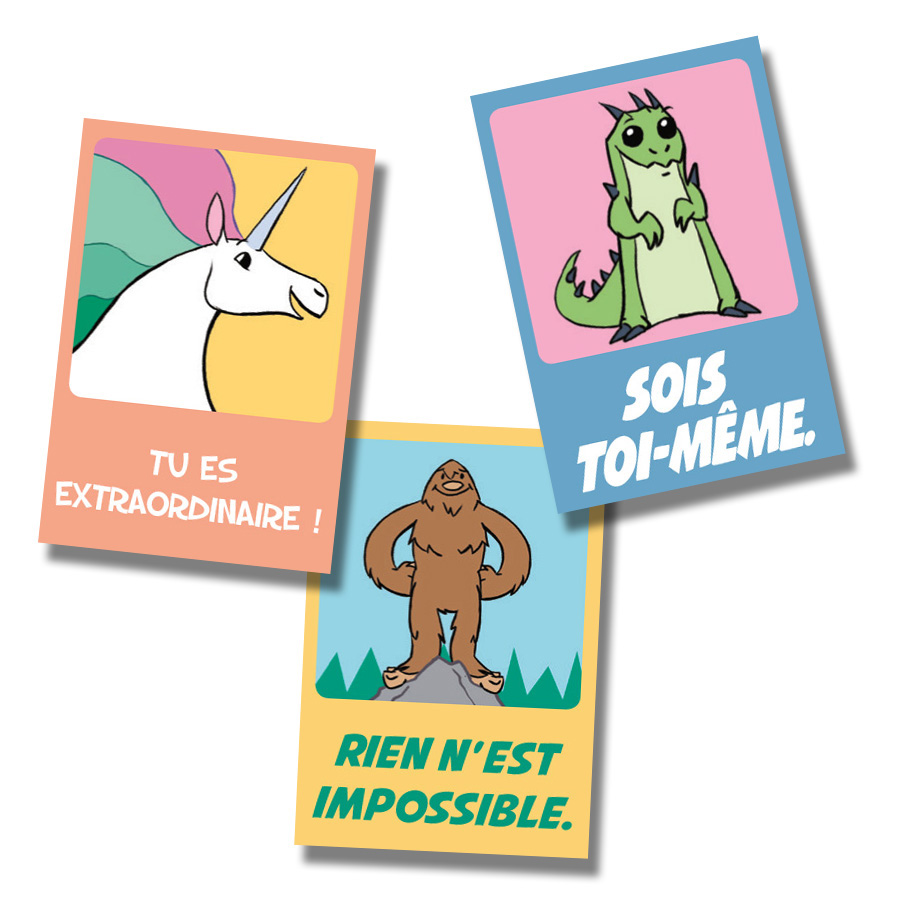 Believe French Stickers