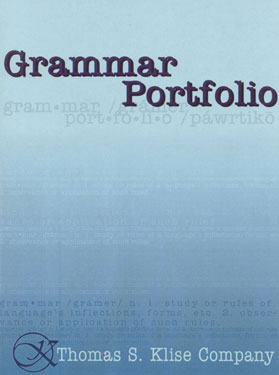Grammar Portfolio Reproducible Book