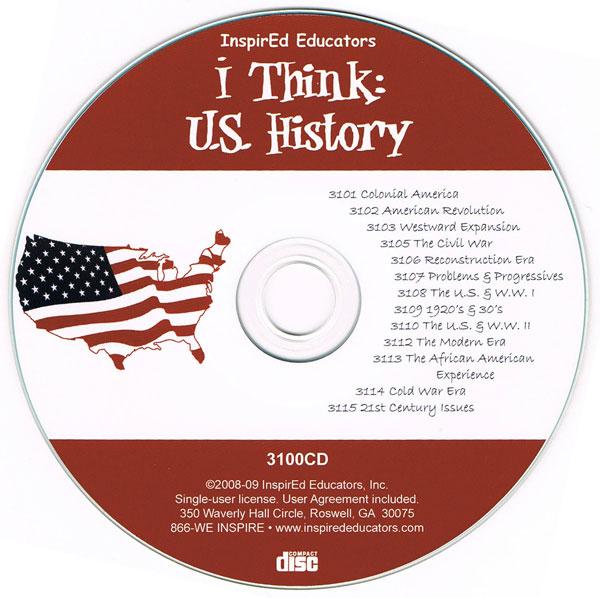 i Think: U.S. History Activity Book Set of 13 Books on CD