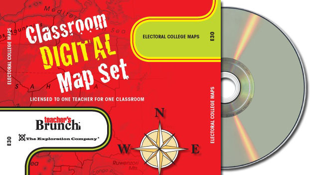 Electoral College Maps ~ CD-ROM