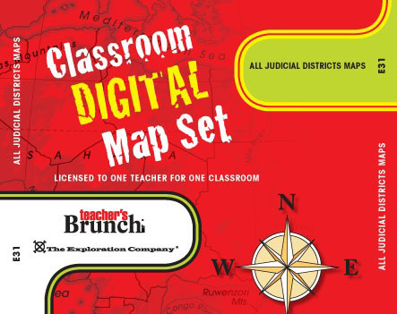 All Judicial District Maps ~ CD-ROM