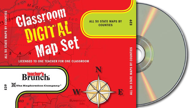 All 50 State Maps by Counties ~ CD-ROM